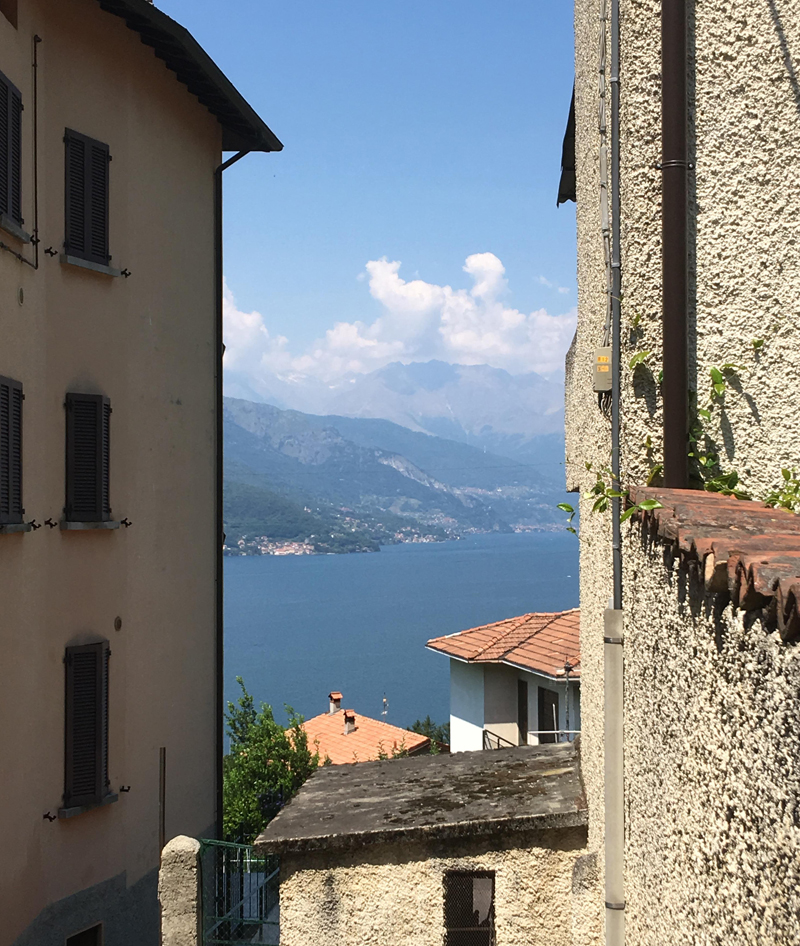 A glimpse of the gorgeous Lake Como from Gittana